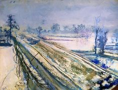 """Stanisław Wyspiański (Polish """"View of Kosciuszko Mound as seen from the Artist's Studio"""", pastel, x 60 cm, National Museum, Warsaw. Google Art Project, Snow Art, Digital Museum, Art Database, Western Art, National Museum, Art Google, Great Artists, Impressionism"""