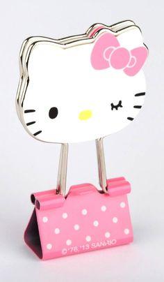 ❣ hello Kitty Die-Cut Binder Clips - soooooo very cute! Hello Kitty Items, Sanrio Hello Kitty, Wonderful Day, Miss Kitty, Hello Kitty Collection, Sanrio Characters, Here Kitty Kitty, Say Hello, Doraemon