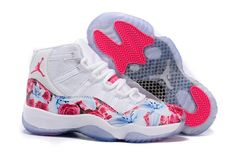 "brand new 4800b 6727a Find For Sale 2016 Girls Air Jordan 11 ""Floral Flower"" White Pink Shoes  online or in Yeezyboost. Shop Top Brands and the latest styles For Sale 2016  Girls ..."