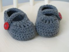 Crochet Baby Mary Jane Shoes by AmandaMichelles on Etsy, ONLY $9.00