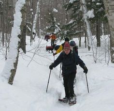 Arethusa falls & Frankenstein Cliffs - 5mi loop.  These folks snow shoed.  Looks like a great weekend activity.