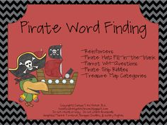 Home Sweet Speech Room : Pirate Word Finding