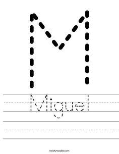 Miguel Worksheet - Twisty Noodle