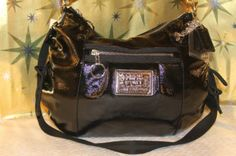 Coach Poppy Licorice Patent Leather Jazzy Hobo Bag