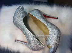8af994f805ca43 sliver crystals heels bling shoes custom sparkly heels weeding heels bridal  shoes peep toe shoes peep