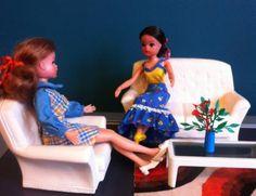 Sindy the doll you love to dress GroovyCart 1971 Pedigree Sindy Chair 12SA20, 1971 White