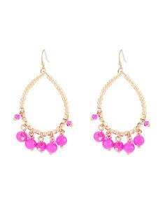 Teardrop Shaky Bead Drop Earrings