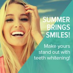 Teeth whitening can enhance anyone's beach-ready style! Get results in as little as one hour - contact your local dentist for details and promotions! Dentist Near Me, Local Dentist, Best Dentist, Fix Teeth, Dental World, Dental Humor, Dental Hygiene, Dental Procedures, Dental Problems