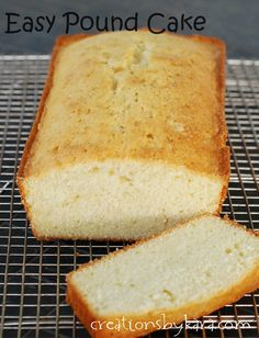 Recipe for easy pound cake that calls for ingredients you already have in your pantry!