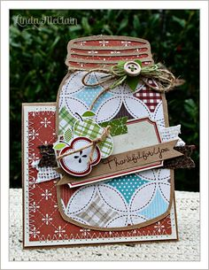 """""""Thankful for you"""" (Ball Jar Tent Card)"""