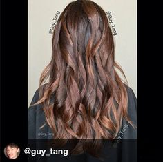 Beautiful Kenra Color by Guy Tang Hair Artist using a couple of our NEW Natural Brown shades that officially launch in January! Base color is Kenra Color Permanent 6NB + 30vol. Guy balayaged using Kenra Color Lightener. He then used Kenra Color 7NB Demi-Permanent to gloss.