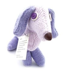 SALE Cute Plush Dog Upcycled Recycled by CreationsByJDB on Etsy
