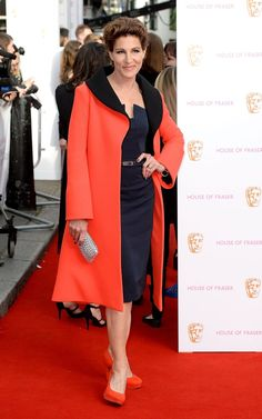 Pin for Later: See All the Stars Arriving at the 2015 BAFTA Television Awards Tamsin Greig
