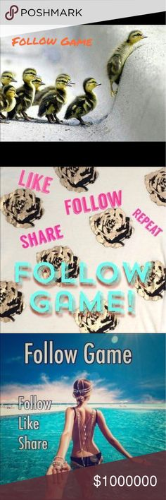 Follow Game 2nd Follow Game. You know the drill. Like, Follow, Share!!! Thank you so much!!! 💕💕💕 Other