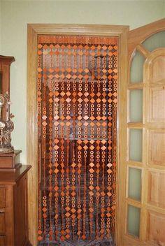 NEW Wooden beaded DOOR CURTAIN Handmade by ArtGateShop on Etsy, $35.00