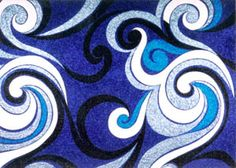 Reuben Patterson glitter art - better in real life! Glitter Kunst, Glitter Art, Maori Symbols, Primary School Art, New Zealand Tattoo, School Murals, Maori Designs, Nz Art, Maori Art