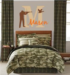 Boys Room Hunting Deer Duck Bear Wall Decals on Etsy, $39.00