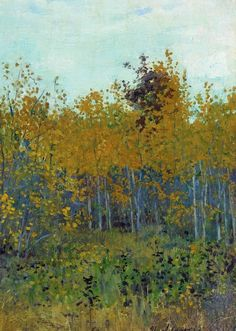 Isaac Levitan (1860-1900)   Aspen forest