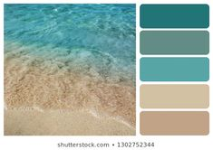 Find ocean color palette stock images in HD and millions of other royalty-free stock photos, illustrations and vectors in the Shutterstock collection. Ocean Color Palette, Beach Color Palettes, Beige Color Palette, House Color Palettes, Bedroom Colour Palette, Color Beige, Beach Color Schemes, Bathroom Color Schemes, Paint Color Schemes
