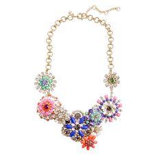 Flower lattice necklace; J.Crew.