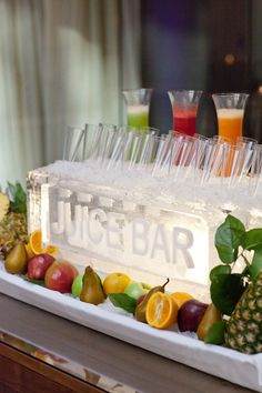 Juice Bar - Great break option for any meeting or add Prosecco for a Mimosa bar! | Four Seasons Hotel Houston