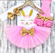 Easter Peeps, Easter Bunny, Easter Outfit For Girls, My First Easter, Bunny Face, He Is Risen, Tutu Outfits, Toddler Fashion, Pink And Gold