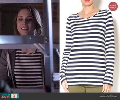 Spencer's striped long sleeve top on Pretty Little Liars.  Outfit Details: http://wornontv.net/45556/ #PLL