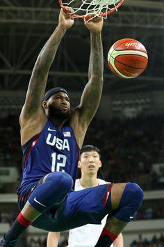 #RIO2016 Best of Day 1 - Demarcus Cousins of United States dunks against China on Day 1 of the Rio 2016 Olympic Games at Carioca Arena 1 on August 6 2016 in Rio de Janeiro...