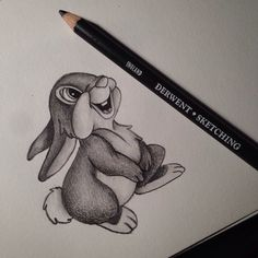 thumper sketch Disney  copyright by lilz_art
