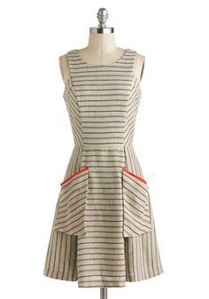 I would love this for the ladies in my wedding party if I ever get hitched... Penmanship Shape Dress, #ModCloth