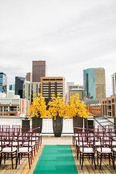 We actually like the yellow. It will provide a dramatic back drop and it will photograph well. Chic floral backdrop. #wedding #zappos Rooftop Wedding, Loft Wedding, Warehouse Wedding, Dream Wedding, Rooftop Party, Rooftop Garden, Perfect Wedding, Floral Backdrop, Backdrop Wedding