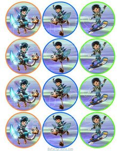 MIles from tomorrowland Cupcake Topper - Stickers GoPartyFiesta