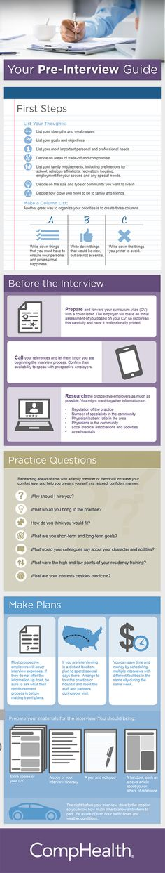 Check out the infographic below via CompHealth on pre-interview guide for your making Job #Interview Success.