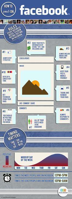 Come fare marketing su Facebook: le regole che ogni azienda dovrebbe conoscere [infografica]