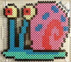 Gary - SpongeBob perler beads by PerlerPixie