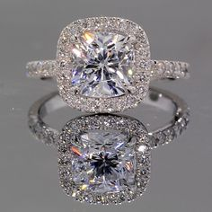 Park Avenue Halo Engagement Ring. (T- this is the one out of two I want)