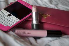 phone, lipstick, makeup, fashion, pink