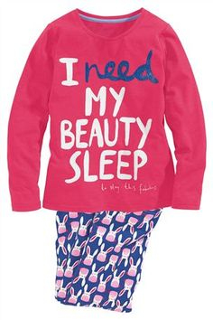 4baa61835a Buy Beauty Sleep Pyjamas (3-16yrs) from the Next UK online shop Kids