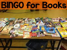 Bingo for Books (Great idea for a family night or for a Christmas/last day of school party)