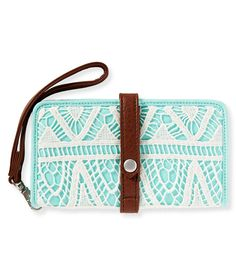 Crochet Bifold Wallet - Aeropostale