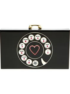 CHARLOTTE OLYMPIA Telephone Pandora Clutch Bag...Now that's cute! #StyleSaturday