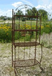 Wrought Iron 72 Large Bakers Rack   Plant Stand Metal Bakers Racks Shelving  Units This Wrought