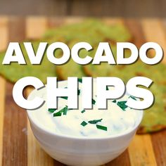 Avocado Chips - Recipe and Food Videos - How to Make Healthy Chips With Avocados. - Avocado Chips – Recipe and Food Videos – How to Make Healthy Chips With Avocados Gourmet Recipes, Keto Recipes, Snack Recipes, Healthy Recipes, Healthy Recipe Videos, Cooker Recipes, Keto Snacks, Healthy Snacks, Dinner Healthy