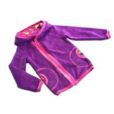 Mikina/Bunda (fialový Coral Fleece)