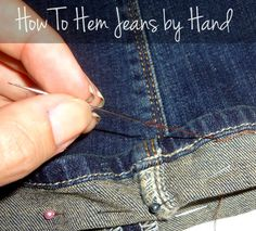 Learn how to hem your jeans by hand with this DIY tutorial. Because the original seam is kept intact, jeans look brand new without the cost of a tailor. Not great at sewing? That's okay! This easy project is perfect for beginners!