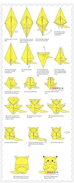 How To Fold A PIKACHU
