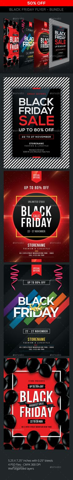 Buy Black Friday - Bundle by sunilpatilin on GraphicRiver. Black Friday – Bundle Black Friday Flyer is designed for all kind of events! The flyer is fully layered and organized. Christmas Sale, Christmas Cards, Text Tool, Sale Flyer, Indesign Templates, Club Parties, New Years Sales, Sale Promotion, Party Flyer