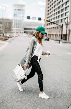 There's only one holiday that puts you at risk from over-excited pinchers, so with March right around the corner… St Patrick's Day Outfit, Outfit Of The Day, Usa Bikini, Chicago Outfit, Girl Fashion, Womens Fashion, Fashion Tips, Leggings, Sport Girl