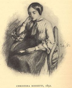 Dante Gabriel Rossetti drawing October 1852- his sister Christina Rossetti