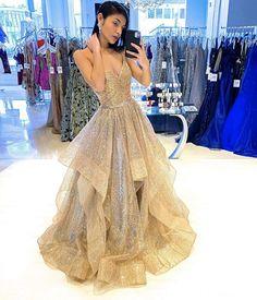 Gold Evening Dresses, A Line Prom Dresses, Evening Gowns, Evening Party, Homecoming Dresses, Denver, Long Party Gowns, Party Dresses, Dress Party